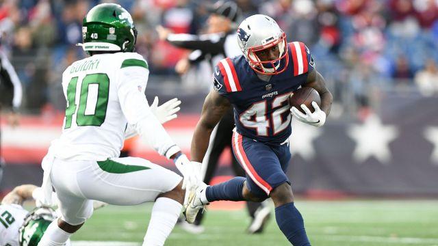 New England Patriots running back J.J. Taylor
