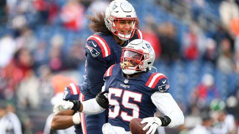New England Patriots Josh Uche and Jahlani Tavai