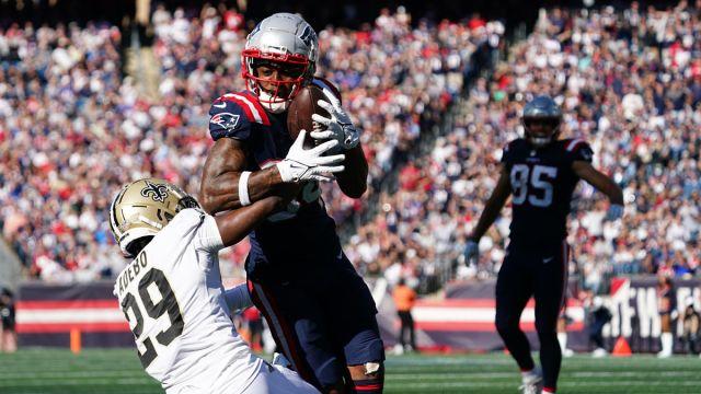 New England Patriots wide receiver Kendrick Bourne