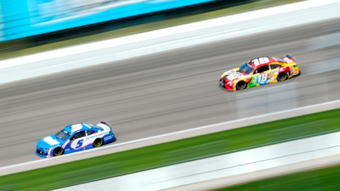 NASCAR drivers Kyle Larson and Kyle Busch