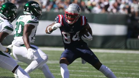 New York Jets safety Marcus Maye and New England Patriots wide receiver Kendrick Bourne
