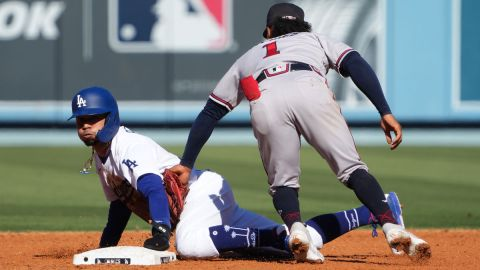 Los Angeles Dodgers outfielder Mookie Betts and Atlanta Braves second baseman Ozzie Albies