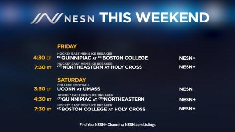 NESN weekend college programming lineup