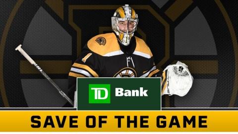 Boston Bruins Goaltender Jeremy Swayman / Save of the Game