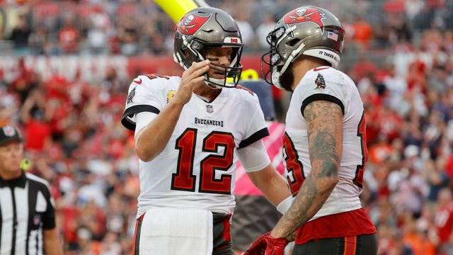 Tampa Bay Buccaneers Quarterback Tom Brady and Wide Receiver Mike Evans