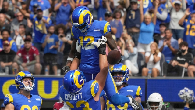 Los Angeles Rams wide receiver Van Jefferson