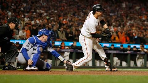 San Francisco Giants first baseman Wilmer Flores