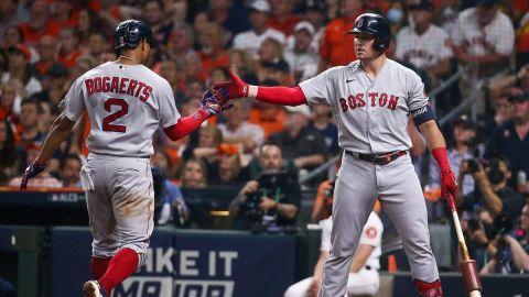 Boston Red Sox shortstop Xander Bogaerts, Hunter Renfroe