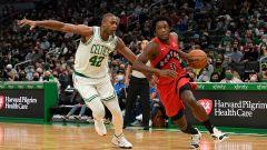 Boston Celtics center Al Horford and Toronto Raptors forward OG Anunoby