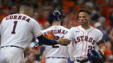 Houston Astros second baseman Jose Altuve, shortstop Carlos Correa