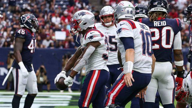 New England Patriots running back Damien Harris