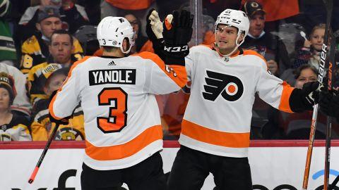 Philadelphia Flyers left wing Scott Laughton