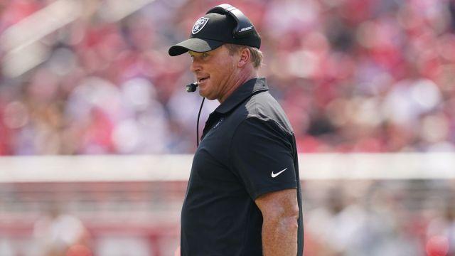 Las Vegas Raiders head coach Jon Gruden