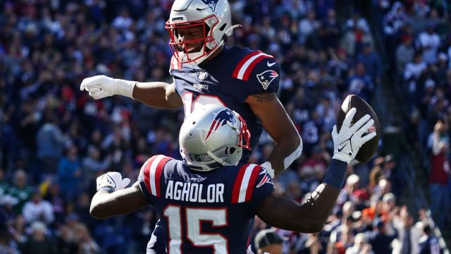 New England Patriots receivers Kendrick Bourne and Nelson Agholor