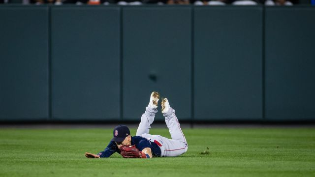 Boston Red Sox center fielder Enrique Hernandez
