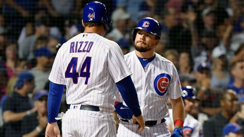 Boston Red Sox outfielder Kyle Schwarber and New York Yankees first baseman Anthony Rizzo